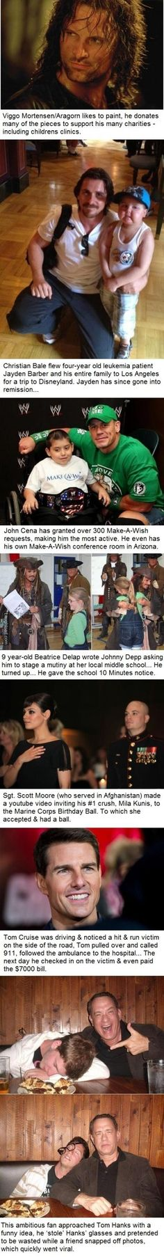 Celebrities can be awesome. (Not one can top Benedict Cumeberbatch. :D)