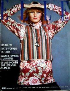 couverture de magazine de mode : Elle 1976, style paysan ethnique, Kenzo