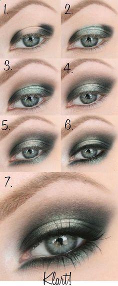 Eye Makeup - Classy smokey green eye makeup tutorial for green eyes. #feminist #tattoo #womentriangle - Ten (10) Different Ways of Eye Makeup