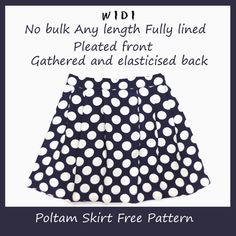 DIY any size Free Pleated skirt with lining free tutorial and pattern