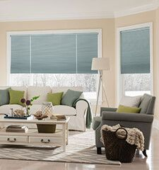 #BGPickMe  Bali® DiamondCell® Cellular Shades: Midnight shown in Sky Blue