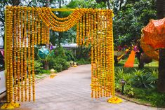 Picture from Deepika & Damodar Photo Gallery on WedMeGood. Browse more such photos & get inspiration for your wedding Wedding Hall Decorations, Marriage Decoration, Backdrop Decorations, Flower Decorations, Backdrops, Wedding Gate, Wedding Doors, Wedding Entrance, Wedding Mandap