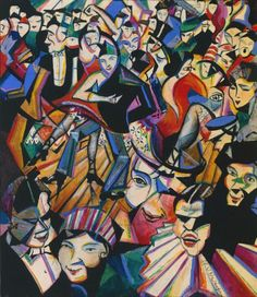 'Dance Hall Scene' // painting by Christopher Richard Wynne Nevinson, (Tate) Futurist Painting, Dulwich Picture Gallery, Tate Gallery, Shall We Dance, Dance Hall, Paris, Art Festival, Art History, Modern Art