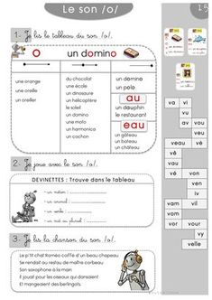 Sons Cp : Fiches de sons avec 30 phonèmes en 30 chansons/RETZ French Basics, French Class, French Lessons, School Info, School Resources, Early Learning, Kids Learning, Numbers Preschool, Preschool Education