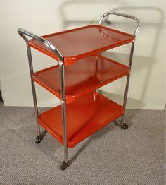 upcycle metal kitchen cart vintage rolling kitchen by gillardgurl, $125.00