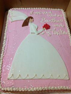 Wedding Shower cake for the bride