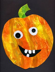 that+artist+woman:+Mixed+Media+Pumpkins....Lots of fun for kids of all ages!...Thanks for sharing this fun art tutorial!