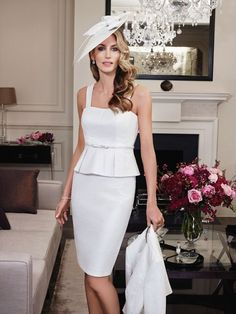 Woman in White; Mother of the Bride Style 25827 from John Charles
