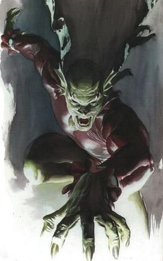 Etrigan by Alex Ross Best Picture For Book Genres anchor chart Comic Book Artists, Comic Book Characters, Comic Artist, Comic Character, Comic Books Art, Comic Villains, Dc Comics Heroes, Dc Comics Art, Fun Comics