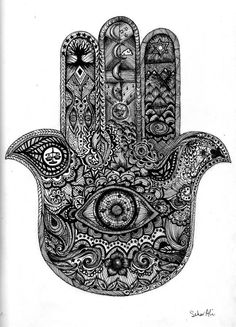 The Hamsa, is a common symbol in the Jewish and Middle Eastern cultures. The symbol represents the protection from the envious or the evil eye.