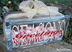 My Love 2 Create: Christmas Glass Block