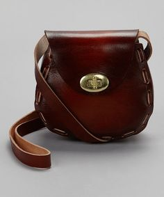 Take a look at this Brown Stitch Purse by BULL on #zulily today!
