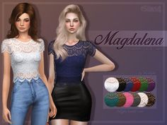 Trillyke: Magdalena shirt • Sims 4 Downloads