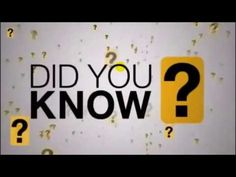 Did You Know  (Officially updated for 2017) - YouTube
