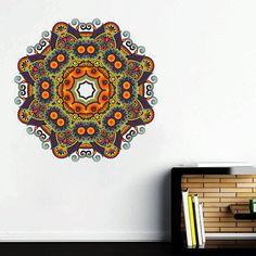 kcik137 Full Color Wall decal mandala ornament Indian living room bedroom