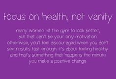 fitness and health not vanity