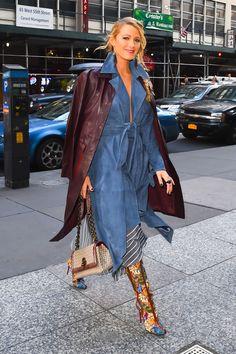 Blake Lively Just Wore This Oscar de la Renta Dress Off the Runway - HarpersBAZAAR.com
