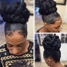 STYLIST FETURE| Love this bun styled by #DetroitStylist @hair_scientist❤️ Classic #VoiceOfHair