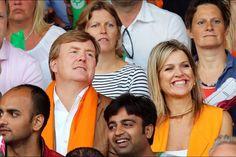 le couple royal à la finale de beach volley