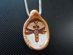 Ancient Dragonfly Petroglyph Jewelry Necklace