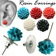 Wholesale Body Jewelry Resin Dhalia Ear Stud Body Jewelry ES27 Wholesale Body Jewelry, Ear Studs, Resin, Stud Earrings, Jacket Earrings, Stud Earring, Stud Earring, Earring Studs