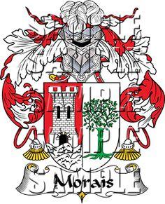 Morais Family Crest apparel, Morais Coat of Arms gifts