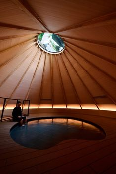 Architecture studio MAD has created five installations inside the Kiyotsu Gorge Tunnel in Japan, including a lake framed by mirrors and a foot bath Niigata, Japanese Spa, Japanese Mountains, Light Tunnel, Cedar Roof, Space Architecture, Wooden Architecture, Sustainable Architecture, Sustainable Design