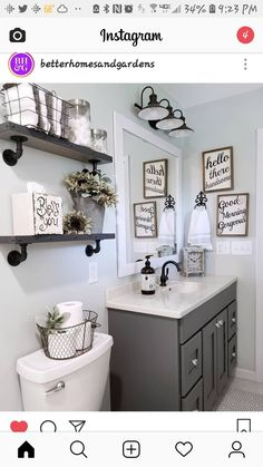 Awesome Small Bathroom Decor Ideas On A Budget. Below are the Small Bathroom Decor Ideas On A Budget. This article about Small Bathroom Decor Ideas On A Budget was posted under the Bathroom category by our team at April 2019 at am. Hope you enjoy it . Diy Bathroom Decor, Bathroom Organization, Condo Bathroom, Master Bathroom, Lowes Bathroom, Bathroom Canvas, Bathroom Designs, Bedroom Decor, Chic Bathrooms
