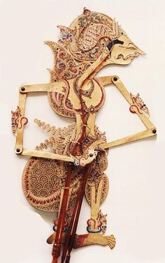 As the name implies, shadow puppets are made from animal skin (buffalo, cow or goat). Shadow puppets are used to perform the play from the . Shadow Theatre, Puppet Theatre, Paper Puppets, Indonesian Art, Javanese, East Indies, Shadow Play, Shadow Puppets, Ancient Art