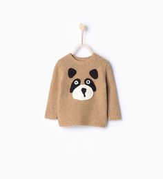 Knit sweater with face print-Cardigans and Sweaters-Baby boy | 3 months - 3 years-KIDS-SALE | ZARA United States