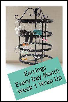 Earrings Every Day Week 1 Wrap Up - Kimberlie Kohler Designs Diy Rings, Earring Tutorial, How To Make Earrings, Day, Design, Home Decor, Decoration Home, Room Decor, Ring Crafts
