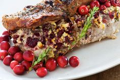 Cranberry Feta Stuffed Pork Loin featured in the winter 2011 issue of East Coast Living, find this recipe and other cranberry inspired recipes on our site