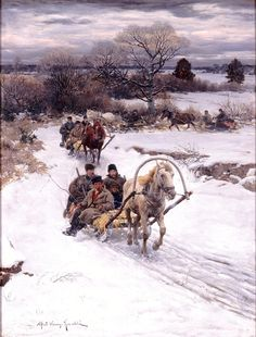 "Alfred Kowalski (Polish, 1849–1915), ""Winter in Russia"", before 1885 (Milwaukee Art Museum, Wisconsin)"