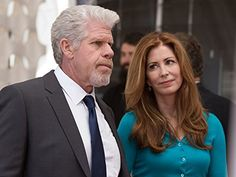 Still of Ron Perlman and Dana Delany in Hand of God (2014)