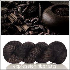 COCOA BLACK SUPERWASH DEWY DK YARN by expression fiber arts