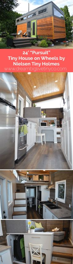 "24' ""Pursuit"" Tiny House on Wheels by Nielsen Tiny Holmes"