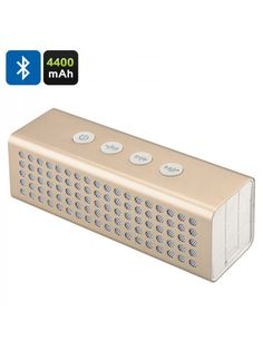 20 Watt Bluetooth Speaker + Power Bank - Battery, Bluetooth Hands Free, Micro SD Card Slot, Aux In (Golden). Home Audio / Video. Best Portable Bluetooth Speaker, Bluetooth Speakers, Slot, Carte Micro Sd, S5 Mini, Lead Acid Battery, Electronic Devices, Sd Card, Free