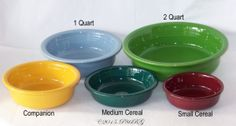 Post 86 Fiesta® Straight Sided Bowls