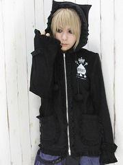 Cat-Ear Frilled Blouson / See more at http://www.cdjapan.co.jp/apparel/new_arrival.html?brand=DRT #japan punk #japan fashion