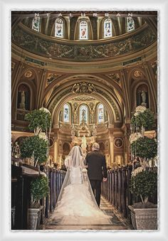 Buffalo Wedding Photographer - Father, Daughter walk down the aisle at the Basilica