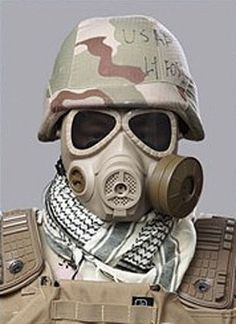 Airsoft Gas Mask Style Protection Cool Full Face Mask Tan