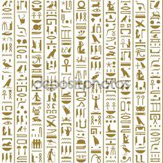 Скачать - Древние египетские иероглифы бесшовные — стоковая иллюстрация #71547949