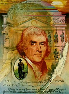 Thomas Jefferson, Colonel, Virginia Militia  1770-1779