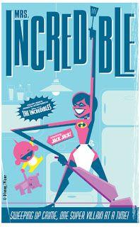 The Incredibles - Retro Disney/Pixar Posters by Eric Tan Pixar Poster, Disney Movie Posters, Disney Mouse, Disney Pixar, The Incredibles 1, Best Superhero Movies, Mrs Incredible, Pix Art, Pixar Movies