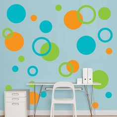 Too bad I am NOT painting the walls in the apartment- these would look great on a brown wall