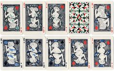 Playing-cards designed by Siriol Clarry