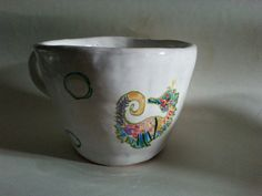 Milk cup with sea-horse