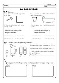 Great Spanish worksheets for working with volume. There are six printable… Spanish Worksheets, Spanish Activities, Math Resources, Spanish Songs, Spanish Class, Teaching Spanish, Decimal, Teaching Measurement, Breakout Boxes