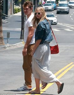 Casual couple: Alex Pettyfer and his girlfriend Marloes Horst headed out for a stroll in Beverley Hills on Sunday