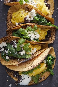 Scrambled Egg Tacos womansday